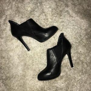 BCBG black booties